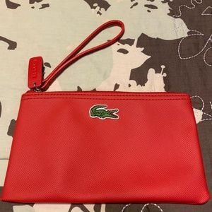 Lacoste Red Wristlet